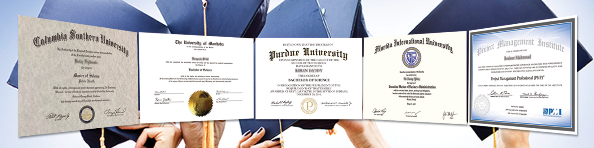 Fake diplomas and transcripts